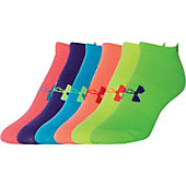 Under Armour Women's Liner No Show Socks (6-Pack)