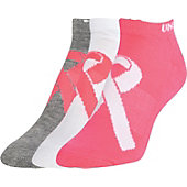 Under Armour Women's Power In Pink No Show Socks (3-Pack)