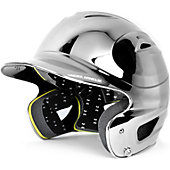 Under Armour Youth Solid Black Chrome Batting Helmet