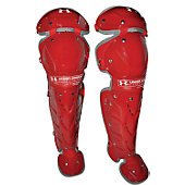 Under Armour Girl's Scarlet Catcher's Leg Guards