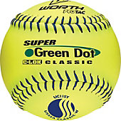 "Worth 11"" USSSA Green Dot Classic Slowpitch Softball (Dozen)"