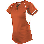 Worth Youth Girls 2 Button Mesh Softball Jersey