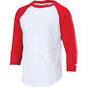 Rawlings Adult Cotton/Poly 3/4-Sleeve Baseball Shirt