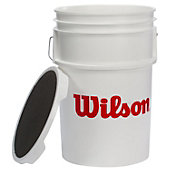 WILSON 6 GALLON EMPTY BALL BUCKET W/ LID