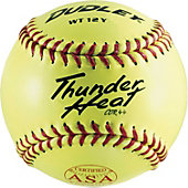 "Dudley 12"" Yellow ASA Thunder Heat Slowpitch Softball (Dozen)"