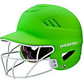 Worth Highlighter 60MPH Fastpitch Batting Helmet w/ Facemask
