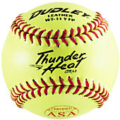 "Dudley 11"" ASA Yellow Fastpitch Softball (Dozen)"