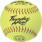"Dudley 11"" Yellow ASA Thunder Heat Slowpitch Softball (Dozen)"