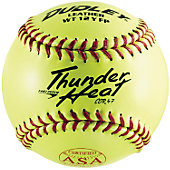 "Dudley 12"" Yellow ASA .47 Cor Fastpitch Softball (Dozen)"