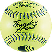 "DUDLEY 9S USSSA CLASSIC 12"" YELLOW LEATHER SP BALL"