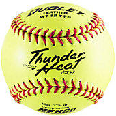 "Dudley 12"" Yellow NFHS .47 Cor Fastpitch Softball (Dozen)"