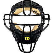 Wilson West Vest Steel Umpires Mask Black/Tan