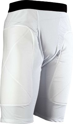 Team Express Gear Adult White Padded Sliding Shorts
