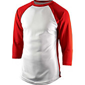 Team Express Gear Youth Pro Plus Red 3/4 Sleeve Shirt