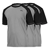 Rawlings Youth 3-Pack Raglan Short Sleeve Performance Shirt
