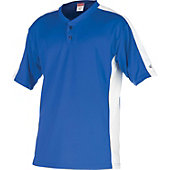 Rawlings Youth Flatback Mesh Royal/White 2-Button Jersey