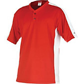Rawlings Youth Flatback Mesh Scarlet/White 2-Button Jersey