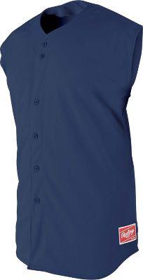 Rawlings Youth Sleeveless Full-Button Baseball Jersey