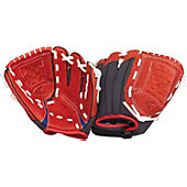 "Easton Z-Flex Series 9"" Scarlet Youth Baseball Glove"