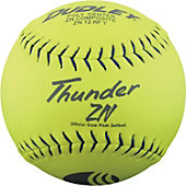 "Dudley 12"" Yellow USSSA Thunder ZN Slowpitch Softball (Dozen"