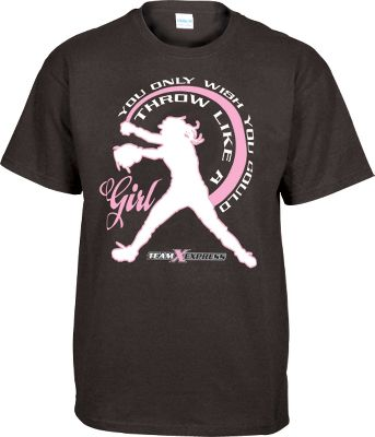 Team Express Gear Womens Throw Like A Girl T Shirt