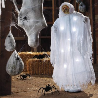 this widespread fascination is especially evident at halloween believers and non believers alike get a thrill decorating their houses with ghostly