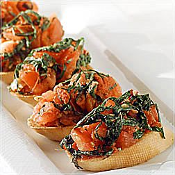 Spicy Tomato and Basil Bruschetta