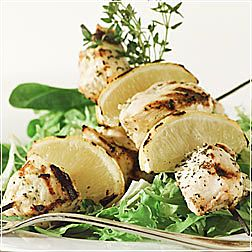 Chicken Kabobs with Lemon and Thyme