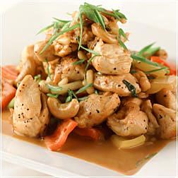 Stir-Fried Chicken with Cashews and Pine Nuts