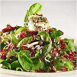 Goat Cheese Salad with Arugula and Raddichio