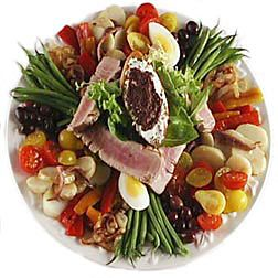 Grilled Tuna Nicoise Salad with Fresh Grilled Tuna