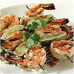 Barbecued Shrimp with Ginger and Lime