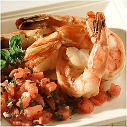 Sauteed Shrimp with Tomato-Basil Vinaigrette