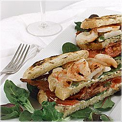 Barbecued Shrimp BLT Sandwich