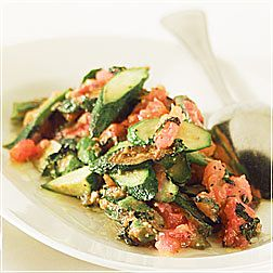 Zucchini with Basil and Tomatoes