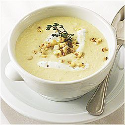 Corn Chowder with Clams and Jalapeno Cream