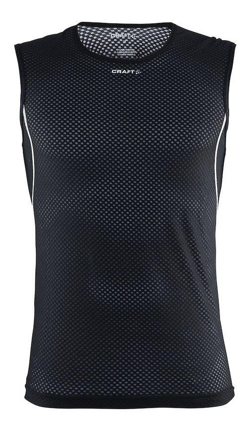 Mens Craft Cool Mesh Superlight Sleeveless & Tank Tops Technical Tops - Black/Platinum L