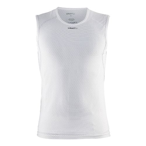 Mens Craft Cool Mesh Superlight Sleeveless Technical Tops - White M