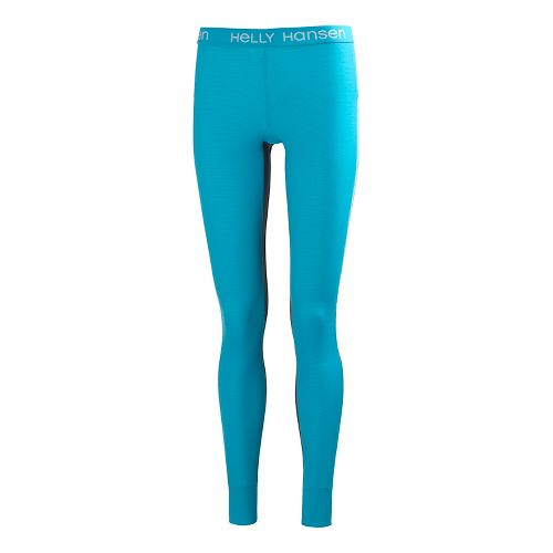 Womens Helly Hansen Active Flow Pant Full Length Tights - Aqua XS-R