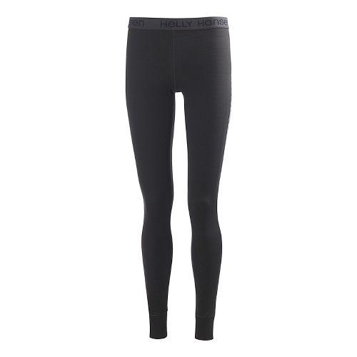 Womens Helly Hansen Active Flow Pant Full Length Tights - Ebony L-R