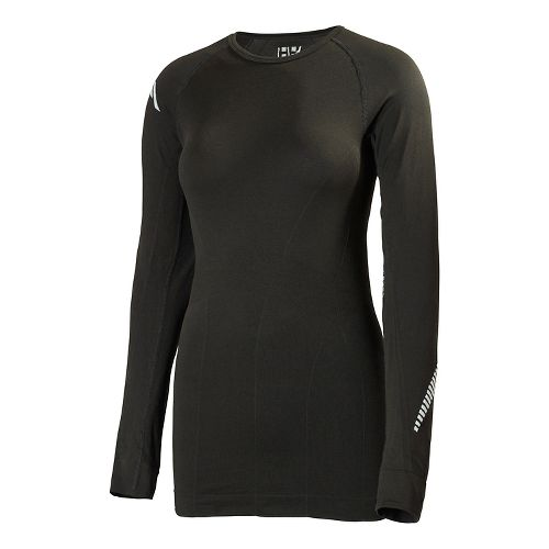 Womens Helly Hansen Dry Elite Long Sleeve No Zip Technical Top - Black M