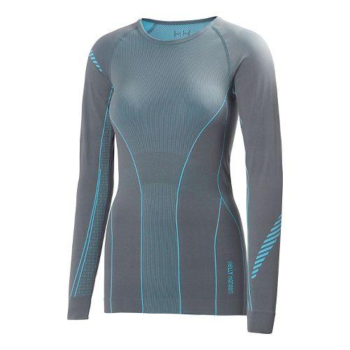Womens Helly Hansen Dry Elite Long Sleeve No Zip Technical Top - Chalk M