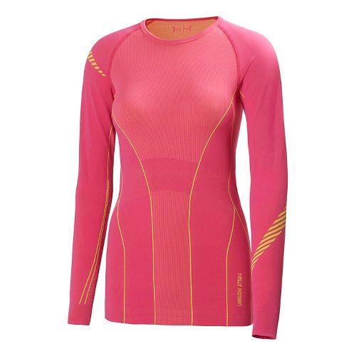 Womens Helly Hansen Dry Elite Long Sleeve No Zip Technical Top - Dark Margarita L ...