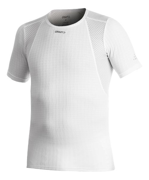 Mens Craft Active Extreme Concept Piece Short Sleeve Technical Tops - White XL