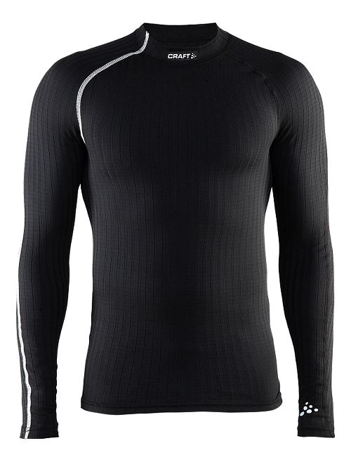 Mens Craft Active Extreme Crewneck Long Sleeve Technical Tops - Black/Platinum S