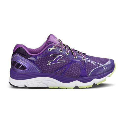 Womens Zoot Del Mar Running Shoe - Deep Purple/HoneyDew 6.5