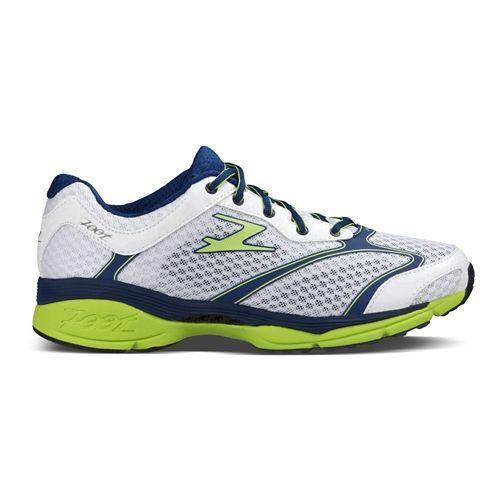 Mens Zoot Carlsbad Running Shoe - White/Zoot Blue 10.5