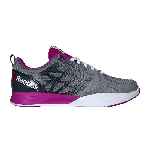 Womens Reebok Cardio Inspire Low Cross Training Shoe - Grey/Berry 10.5