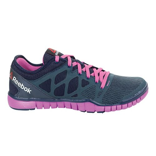 Womens Reebok ZQuick TR 3.0 Cross Training Shoe - Navy/Pink 7.5