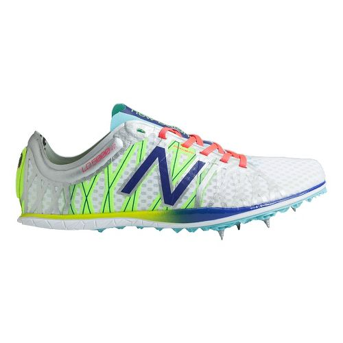 Womens New Balance LD5000v2 Track and Field Shoe - Silver/Spectrum Blue 5.5